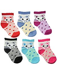 SioTM Premium Cotton Woolen Mix Baby Boys / Girls Socks ( 6 Month to 5 Yrs) Pack of 6 Pairs (6-12 Months)