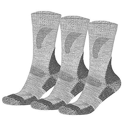 DANISH ENDURANCE Outdoor Walking Socks in Merino Wool for Men Women & Children, Hiking & Trekking, Work, 3 Pack Calf Socks in Brown, Red, Green, Blue, Grey, Black 2