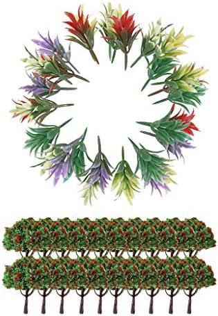 SM SunniMix Arbres De Modèle 1/100 avec avec avec des Fleurs Et des Plantes à Fleurs | En Qualité Supérieure  71a5e7