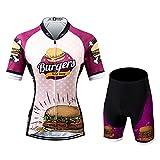 Thriller Rider Sports Damen Burgers Sport & Freizeit MTB Fahrradbekleidung Radtrikot und Kurze Hose Anzüge Medium
