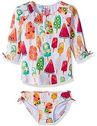 Hatley Girl's Rash Guard Swimwear Set