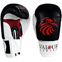 Valour Strike Boxing Gloves Sparring Pro Punch Bag Fight MMA Muay Thai Grappling Fight Adult Mitts Martial Arts Training Kickboxing Punching Glove (14oz)