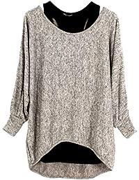Amazon.fr   Beige - T-shirts, tops et chemisiers   Femme   Vêtements 520533732eda