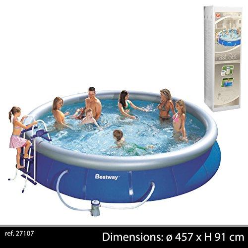 BestWay Fast Set Quick Up Pool Set Filterpumpe Schwimmbad Swimming Pool 457x91cm