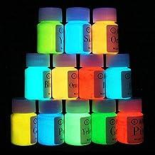 Neon Nights Glow in the Dark paint- nero chiaro–self Luminous Paint–phosphorescent- neon corpo tubetti di 12bottiglie. 0.7oz. Ogni