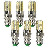 Granvoo 6-er Pack E14 3W Kaltweiß LED Licht mit Silikon AC 220-240V 80X3014 SMD