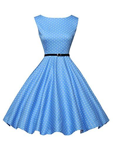 GRACE-KARIN-1950s-Vintage-Hepburn-Style-A-line-Cotton-Swing-Dress-30Colors-XSPlus-Size-4X
