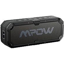 Altavoz Bluetooth 4.0 20W con Conductor Dual Estéreo,Mpow Armor Altavoces Inalámbricos Manos Libres IPX5 Impermeable,Salida USB 5V/2A,Betaría de 5200mAh, con Unos Graves Potentes y Reproducción Constante de 22 Horas