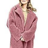 Vorweihnachtliche Karnevalsaktion Damen Herbst Winter Bequem Mantel Lässig Mode Jacke Frauen Winter Solide Fuzzy Kunstpelz Langarm Strickjacke Übergroßen Outwear Mantel