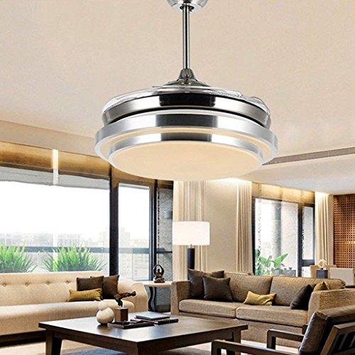 DSJ Kronleuchter 36 Zoll 42 Zoll Wohnzimmer Stealth Deckenventilator Lichter, Mode Restaurant Lampen, Moderne Lampe Fan Lichter, LED Kronleuchter,36 Zoll (Zoll 36 Tv Led)