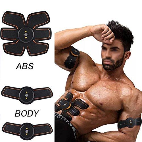 [nueva versión 2017] Músculo abdominal tóner ABS entrenamiento cuerpo engranaje ajuste cinturón tonificante músculo inalámbrico ejercicio para hogar/oficina apoyo hombres y mujeres