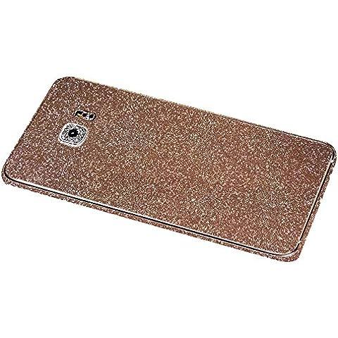 Skitic Sparkle Adesivi Film Protettore per Samsung Galaxy S6, Bling Glitter Sticker Custodia Case Bumper Cover Copertura Prottettiva Screen Protector per Samsung Galaxy S6 - Oro rosa
