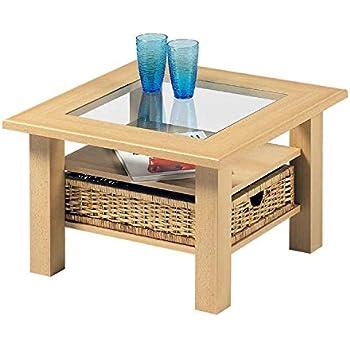 Couchtisch glasplatte tisch wohnzimmertisch kiefer amazon for Couchtisch mit glaseinlage