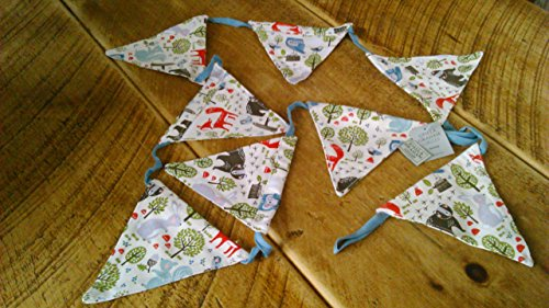 woodland-friends-canvas-bunting-by-gisela-graham