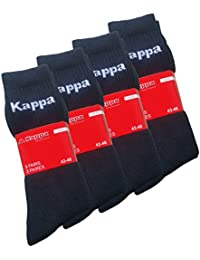 3 - 6 - 9 oder 12 Paar Original KAPPA Tennissocken, Sportsocken, Arbeitssocken, Schwarz - Cottonprime