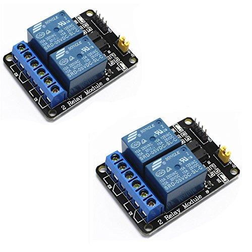 dsp modul iHaospace 2-CH 5V 2 Kanäle Relais Modul-Brett für Arduino PIC AVR DSP MCU Relais Modul (2 Pcs)