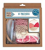 D.I.Y with Toga Kit di avviamento Punch Needle, Plastica/Lana, Lana Rosa e Beige, Taglia del Pack: 20x 23x 4cm