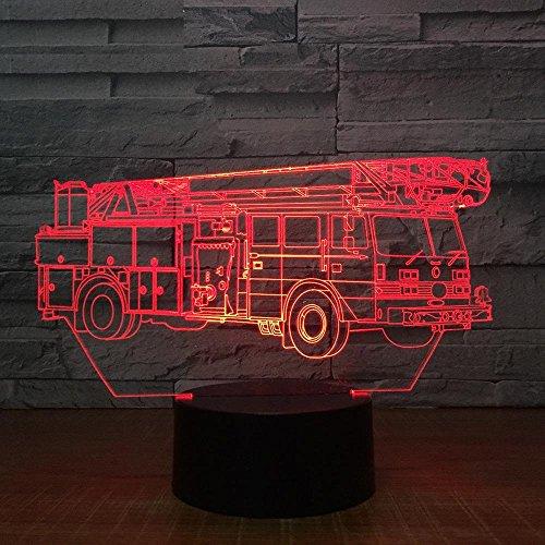 Farbe Der Kran-Lkw-3D Lampe 7 Führte Nachtlicht Für Kind-Noten-Usb-Tabellen-Baby-Schlafenachtlicht-Raum-Lampe (Star Wars Baby-raum)
