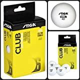 #3: HeadTurners Stiga Club 40+mm Selected Training Balls, White Table Tennis Ball, Pack of 12 Balls