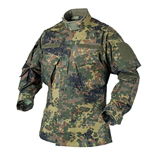 Helikon-Tex CPU Jacke Shirt - Polycotton Ripstop - Flecktarn, XL, Flecktarn