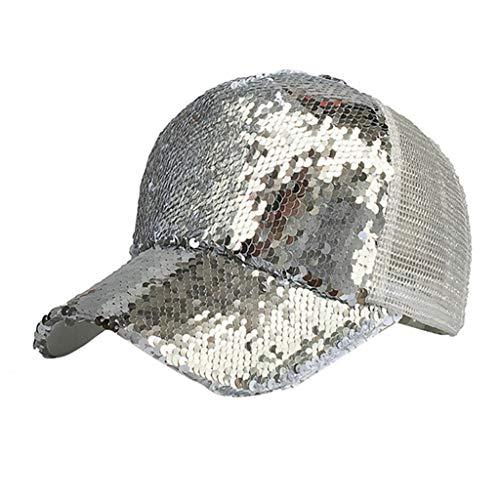 GLL Baseball Cap Damen Pferdeschwanz Baseball Cap Glitter Glitter Messy Haarnadel Hut Sun Hat Baseball Cap Damen Glitter-baseball-cap