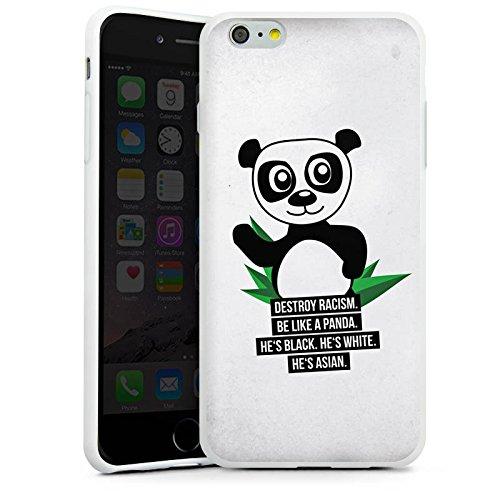 Apple iPhone X Silikon Hülle Case Schutzhülle Sprüche Panda Weiß Silikon Case weiß