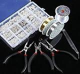 Jeteven Kit de Bijoux DIY Collier Bracelet Boucle D'oreille Apprêt Fabrication de Bijoux Création Manuelle avec Outile de Bricolage Bijoux Argent