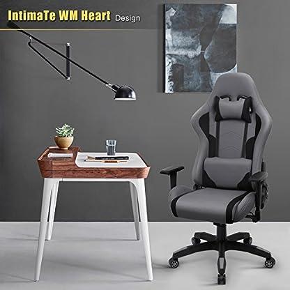 IntimaTe WM Heart Silla Gaming, Oficina Silla Ordenador, Ergonómica Silla Tela Giratoria, Silla Reclinable con Alto Respaldo