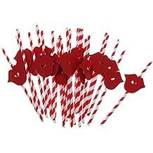 25pcs Labios Rojos Atractivos Bar De Verano Del Partido Decoración De Las Pajas De Beber Colorido Cóctel