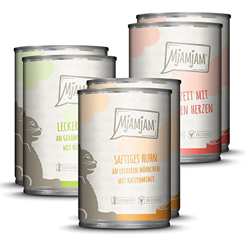 MjAMjAM - Premium Nassfutter für Katzen - Mixpaket I - Huhn - Getreidefreies Katzenfutter