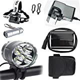 Constepor Super Bright bicycle light ,5X T6 Cree Bicycle lights
