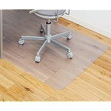 Alfombrilla transparente para silla para suelos duros, rectangular, alta resistencia al impacto, antideslizante, material no reciclable, 75 x 120cm (2.5'x4')