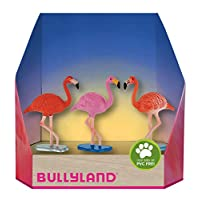 Bully Country 63164-Flamingo Figurine in Gift Box Set, 3Pieces