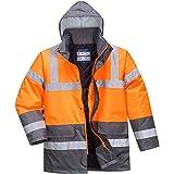 Portwest S467OGYXXL Veste de circulation bicolore à haute visibilité, Coupe Regular, Taille XXL, Orange/Gris
