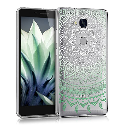 kwmobile Huawei Honor 5X / GR5 Hülle - Handyhülle für Huawei Honor 5X / GR5 - Handy Case in Mintgrün Weiß Transparent