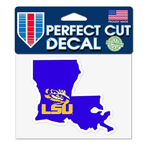 Wincraft LSU Tigers 10,2x 12,7cm Perfekten Schnitt State Aufkleber-Louisiana State University Tigers State Tigers