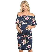 Hello MIZ Vestido de maternidad para mujeres