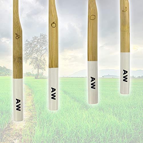 AVOID WASTE - Nachhaltige Zahnbürste aus Bambus - Die veganen Bambuszahnbürsten mit weichen Borsten (4) - 2