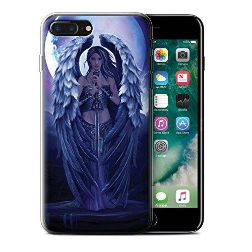 Officiel Elena Dudina Coque / Etui Gel TPU pour Apple iPhone 7 Plus / Coeur Noir Design / Super Héroïne Collection Ange Gardien