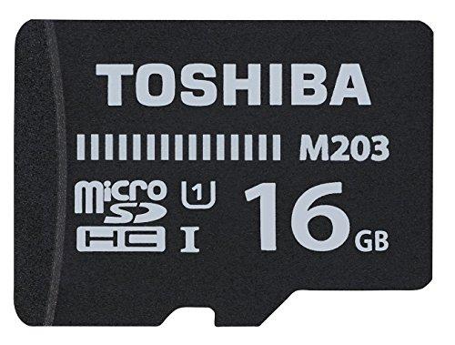 Toshiba M203, 16 GB, microSDXC 16GB MicroSDXC UHS-I Clase 10 memoria flash - Tarjeta de memoria (16 GB, microSDXC, 16 GB, MicroSDXC, Clase 10, UHS-I, 100 MB/s, Negro)