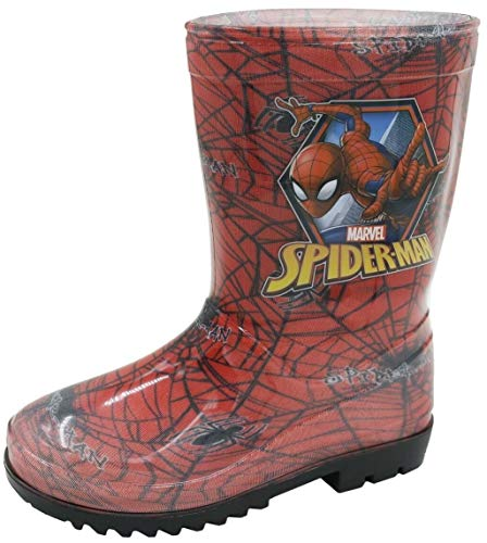 Spider Man Wellingtons Boys Welly Wellies Children Infant UK Sizes 8-2