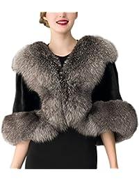 Battercake Donna Cappotto Invernali Elegante Capa Pelliccia Sintetica Moda  da Sposa Casuale Donne Giacche Outerwear Outwear 7a9650ef346