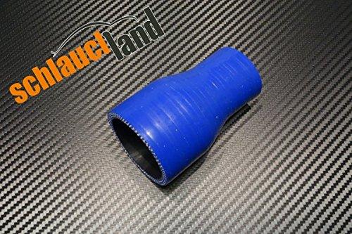 Preisvergleich Produktbild Silikon-Reduzierstück ID 22-19mm blau*** Silikonschlauch Reduzierer Silikon Reduzierung LLK
