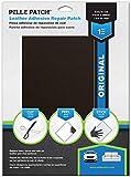 Pelle Patch - Selbstklebender Reparaturflicken für Leder und Vinyl - In 25 Farben erhältlich - Original 20cm x 28cm - Dunkelbraun