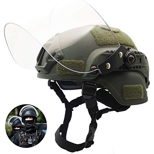 TTBDY Tactical Helm, Leichte Schutzhelm Schnell Ich 2000 Airsoft Helm Mit Schutzbrillen Für CS Schießen
