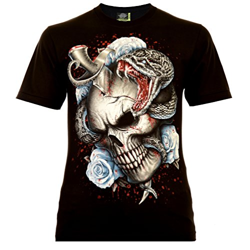 Ink Addict Herren T-Shirt Schwarz Gr. 2XL Glow in The Dark (Halloween-glow Dark Shirts In The)