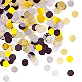 Oblique Unique® Papier Konfetti Schwarz Gold Grau Weiß Tisch Deko Streu Dekoration für Geburtstag Feier Party Hochzeit JGA Jubiläum