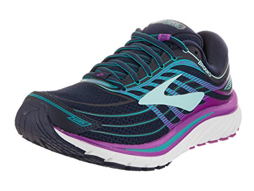 Brooks GLYCERIN 15, Scarpe running donna, Pianta stretta, EveningBlue/PurpleCactusFlower/TealVictory, 38.5 EU