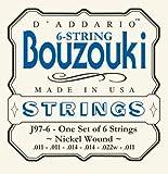 D'Addario J97-6 GSaitensatz reek Bouzouki 6-String Nickel Wound