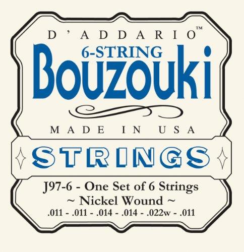 D\'Addario J97-6 GSaitensatz reek Bouzouki 6-String Nickel Wound